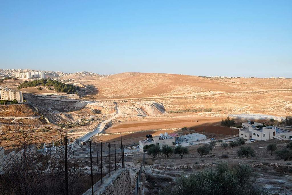 Widok naprzedmieścia Bajt Sahur nieopodal Betlejem