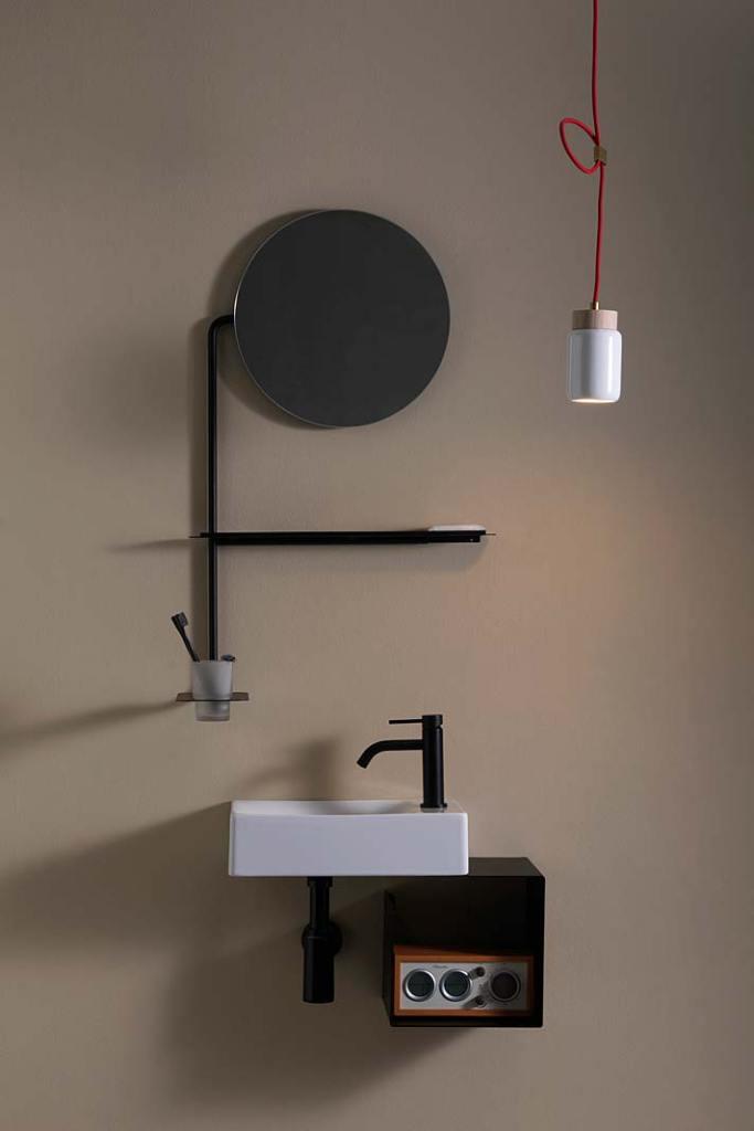 Mini łazienka, zestaw z umywalką Fold od Scarabeo