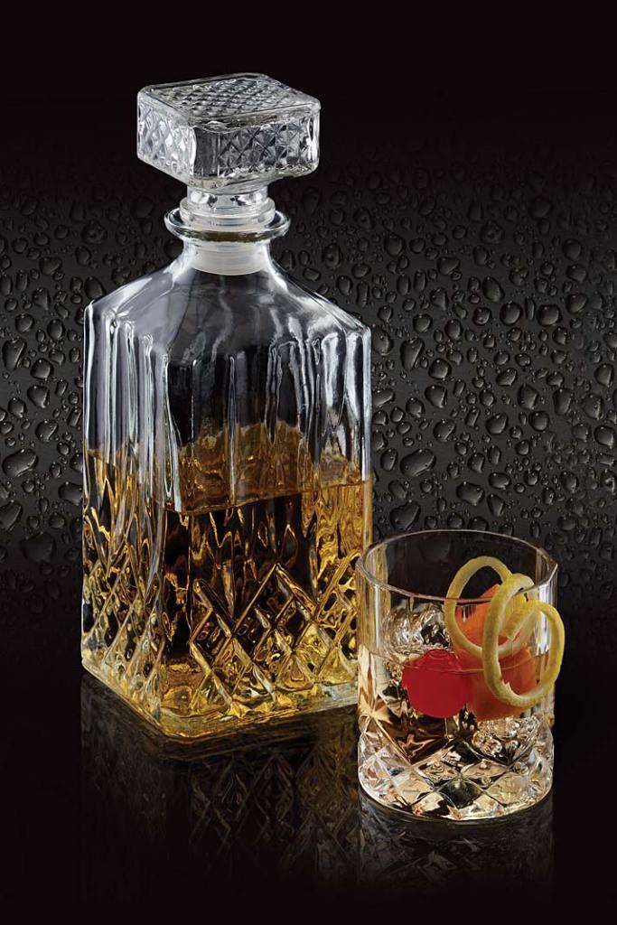 Zestaw BarCraft, karafka i szklanka do whiskey
