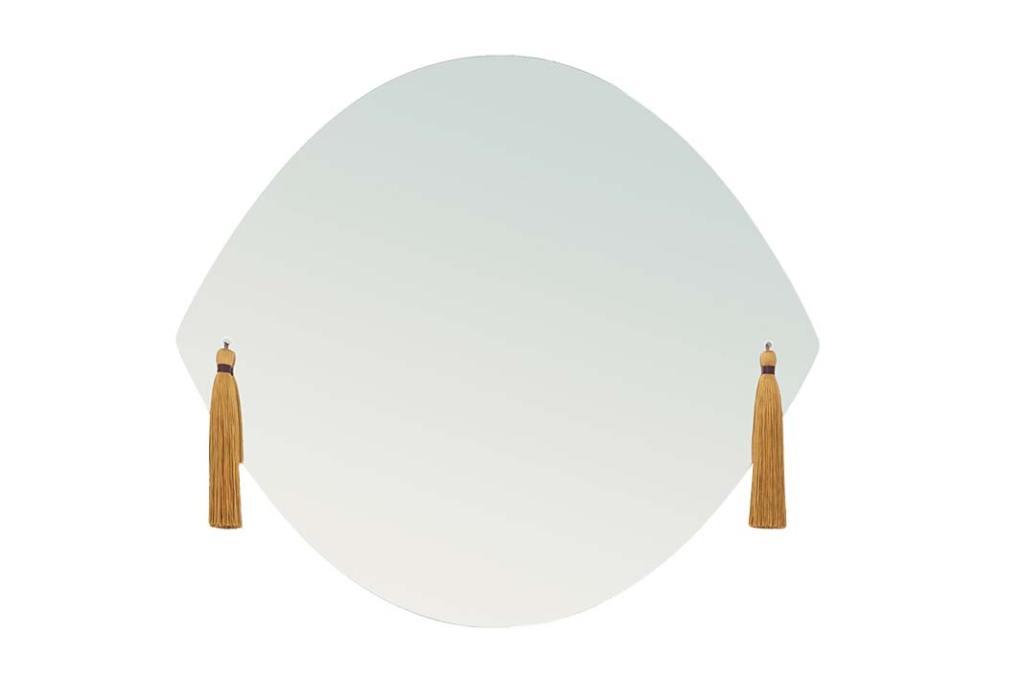 Złote dodatki do łazienki, lustro Panache Petit z oferty 9design