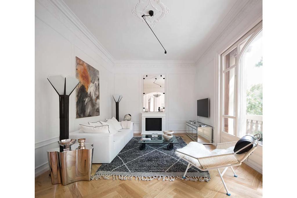 Apartament w Barcelonie, w dzielnicy Eixample. Projekt Valgreen Studio