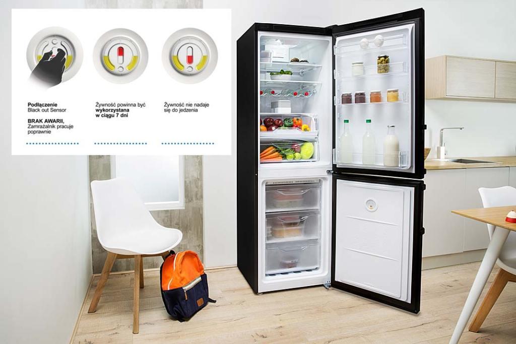 Chłodziarko-zamrażarka Indesit eXtra informuje o stanie produktów