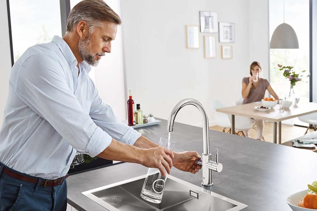 Filtry do wody. Domowy system filtrowania wody Grohe Blue