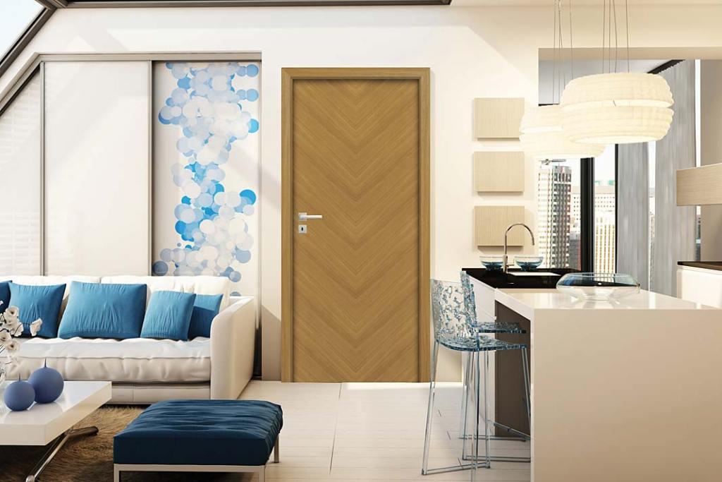 Drzwi wewnętrzne Espina marki Pol-Skone z dekorem imitującym jodłę francuską