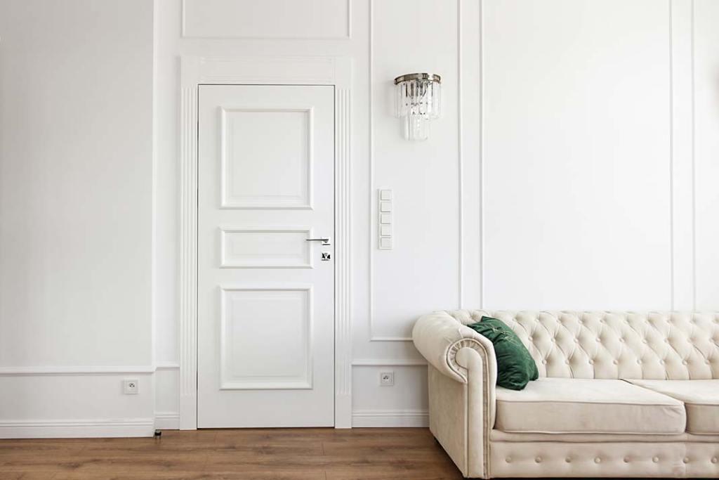 Drzwi wewnętrzne w klasycznym stylu, model Fresa od Interdoor
