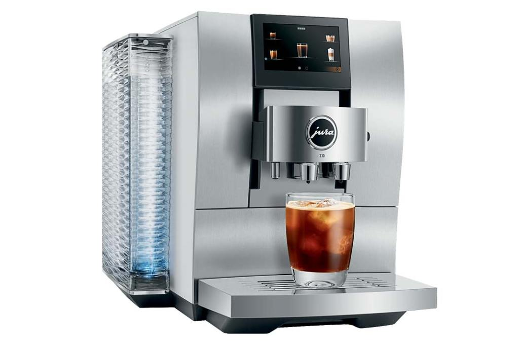 Ekspres ciśnieniowy Z10 Jura przygotowuje gorące izimne specjały kawowe