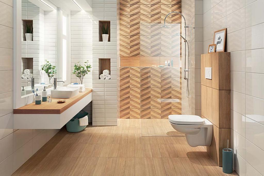 Imitujące drewno płytki ceramiczne Brika zoferty Tubądzin