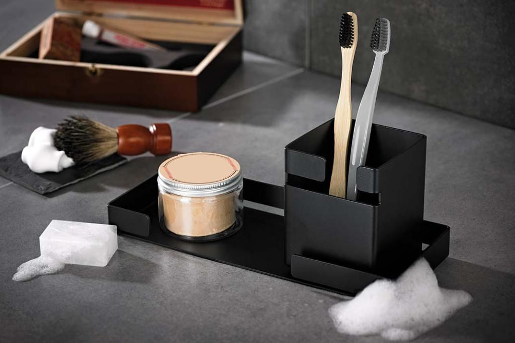 Kolekcja akcesoriów łazienkowych Mokko marki DEANTE, dostępna w wersji Nero i Bianco