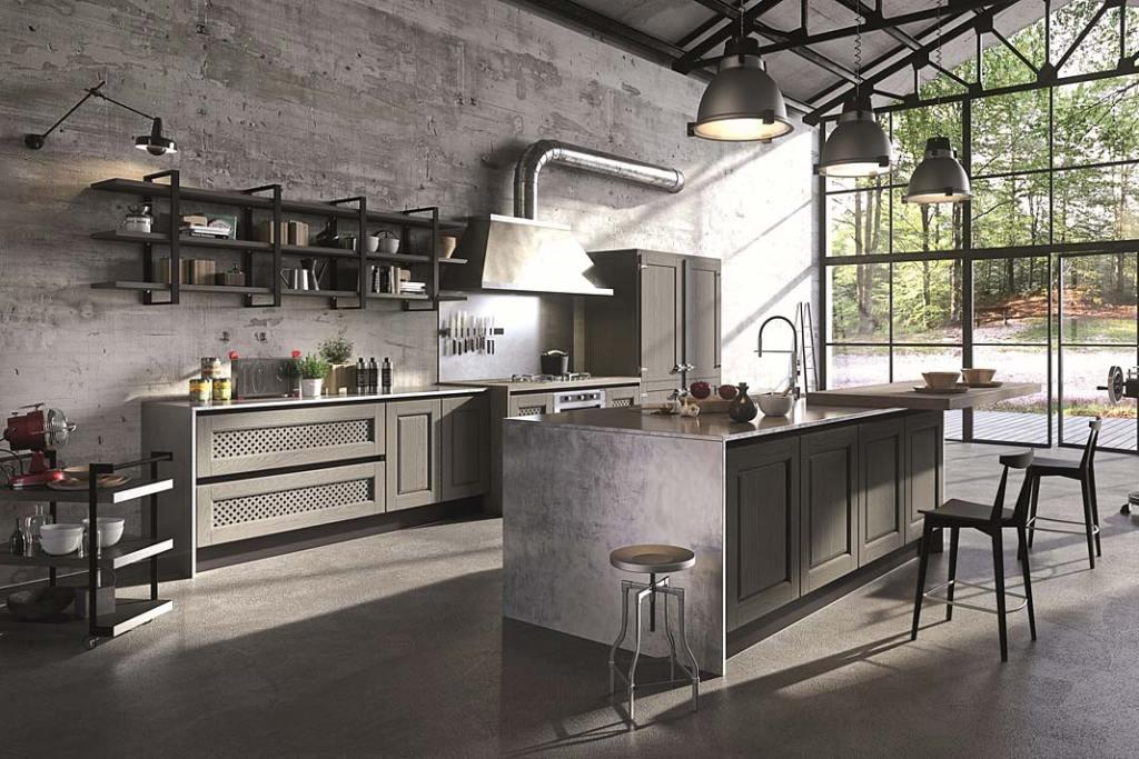 Kuchnia w stylu loft, meble Bellagio firmy Aran Cucine