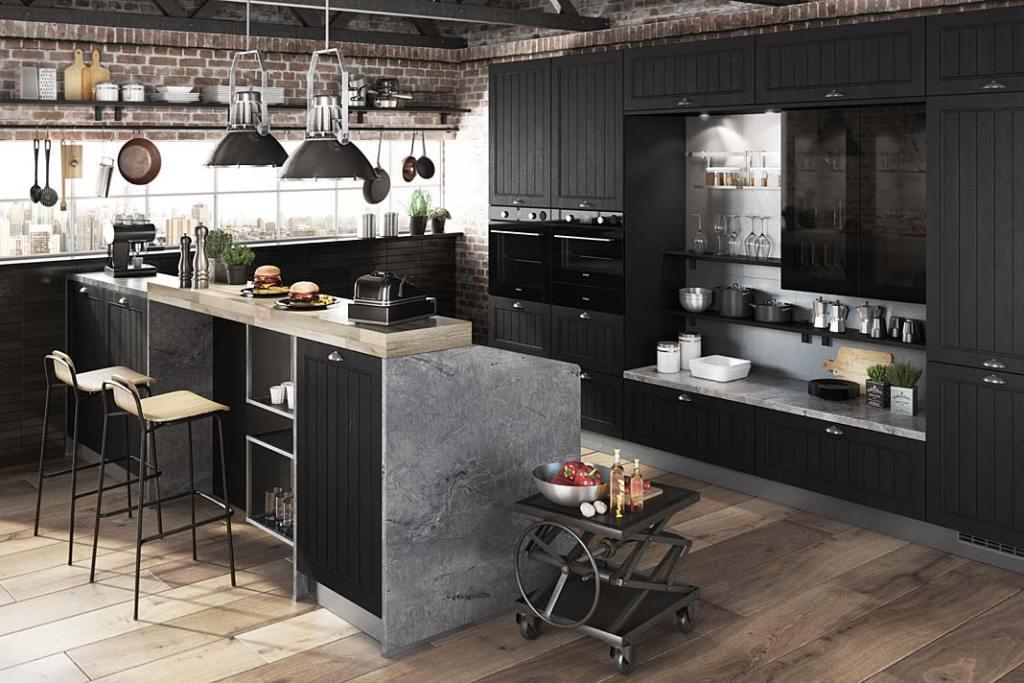Kuchnia w stylu loft, meble Lea marki Bauformat