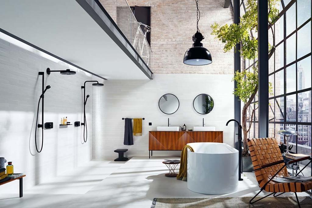 Łazienka dla dwojga, aranżacja marki HANSGROHE