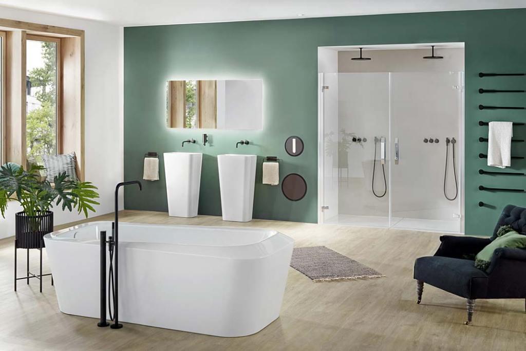 Łazienka dla dwojga, aranżacja marki KALDEWEI