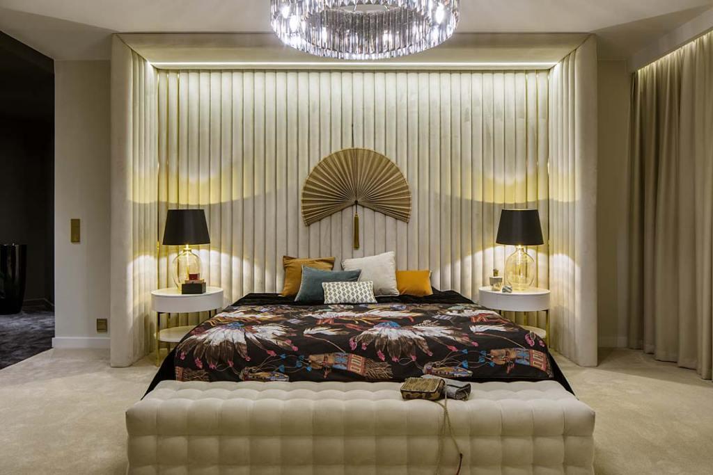 Luksusowa sypialnia. Projekt Hola Design