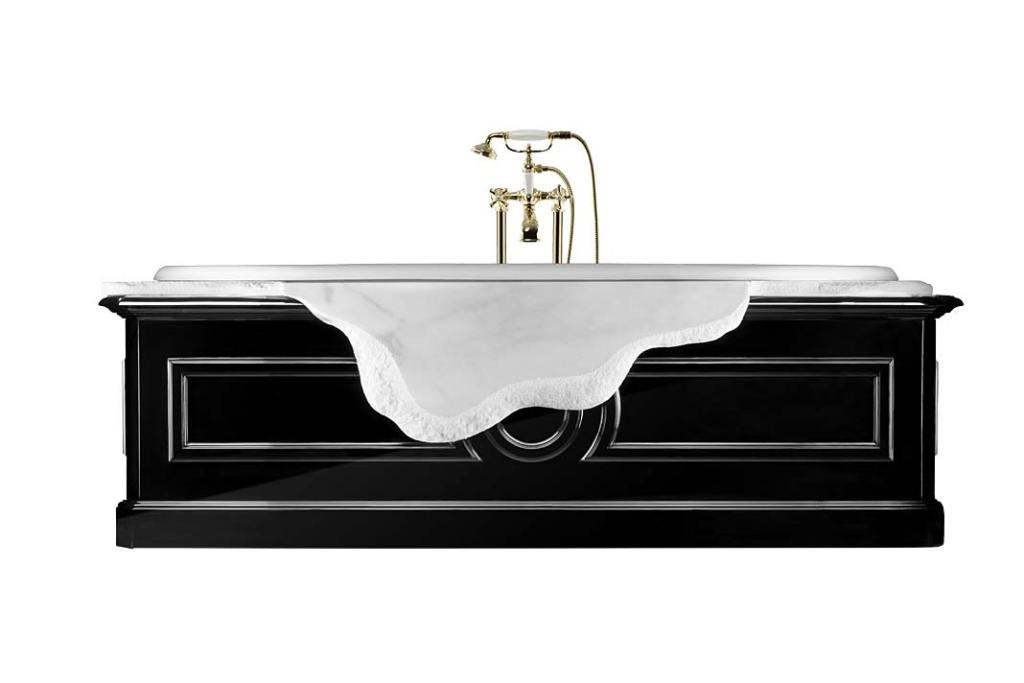 Kobieca łazienka - tu sprawdzi się luksusowa wolnostojąca wanna Petra od Maison Valentina
