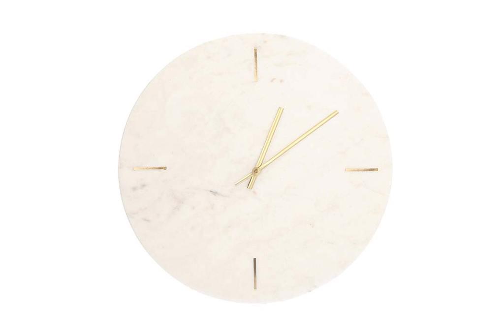 Marmurowy zegar ścienny Moreno od Dekorii