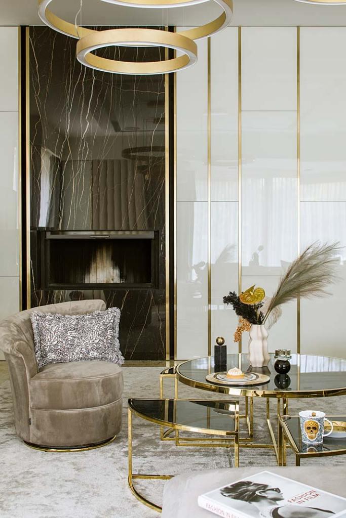 Nowoczesne wnętrza z nutą glamour. Projekt Hola Design
