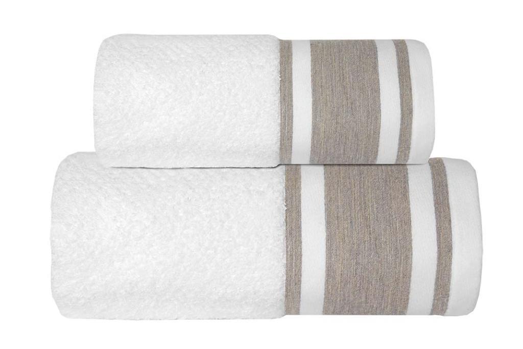 Ręcznik Italian Biały z bordiurą firmy Greno