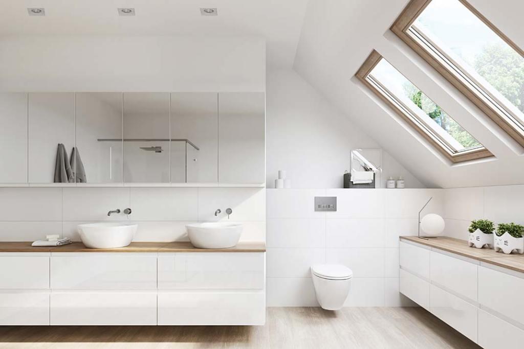 Rodzinna łazienka z meblami serii Moduo od Cersanit