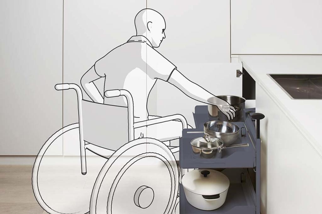 Narożnik kuchenny z systemem Magic Corner Comfort marki Peka