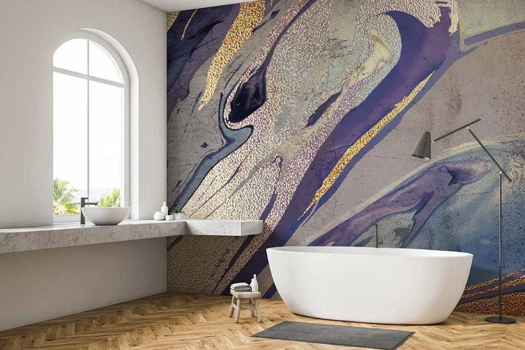 Tapeta w łazience, propozycja marki Wallsauce