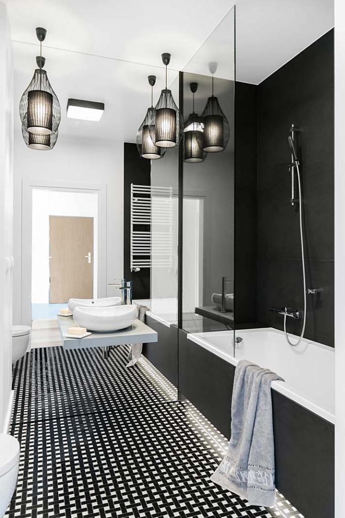 Umywalka w łazience dla mężczyzny. Projekt Decoroom
