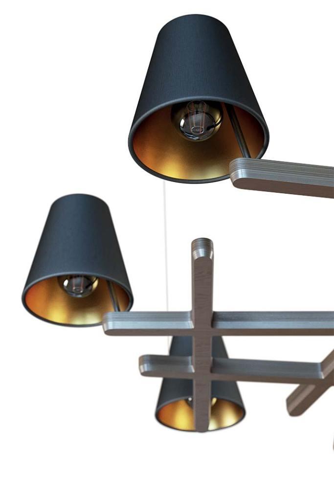 Nowoczesne lampy. Żyrandol Petra od Cleoni