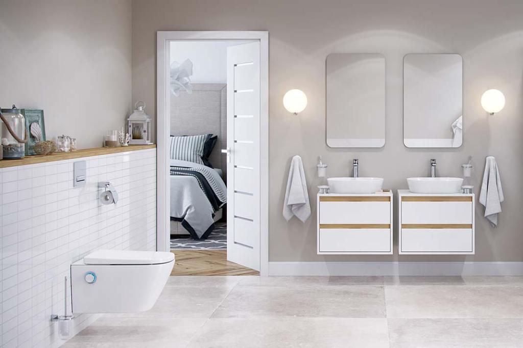 Aranżacja łazienki z toaletą myjącą Dakota marki Excellent