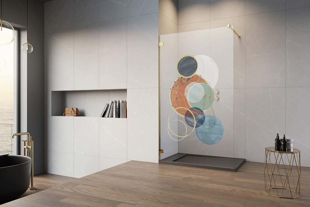 Kabiny prysznicowe z nadrukiem na szkle Print Radaway wzór Art