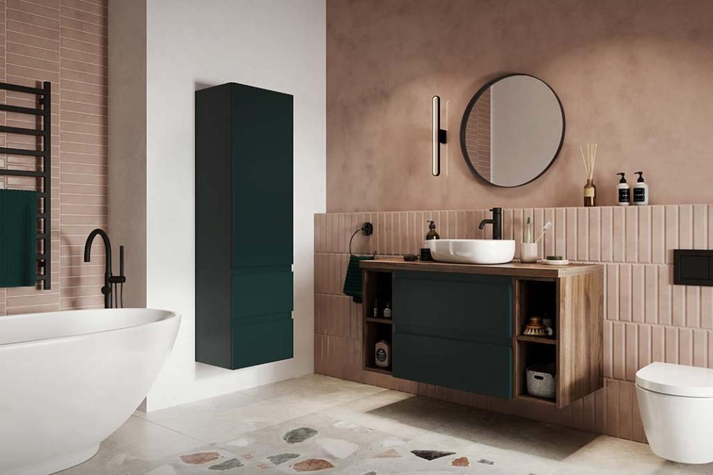 Kolekcja mebli łazienkowych Como marki Defra