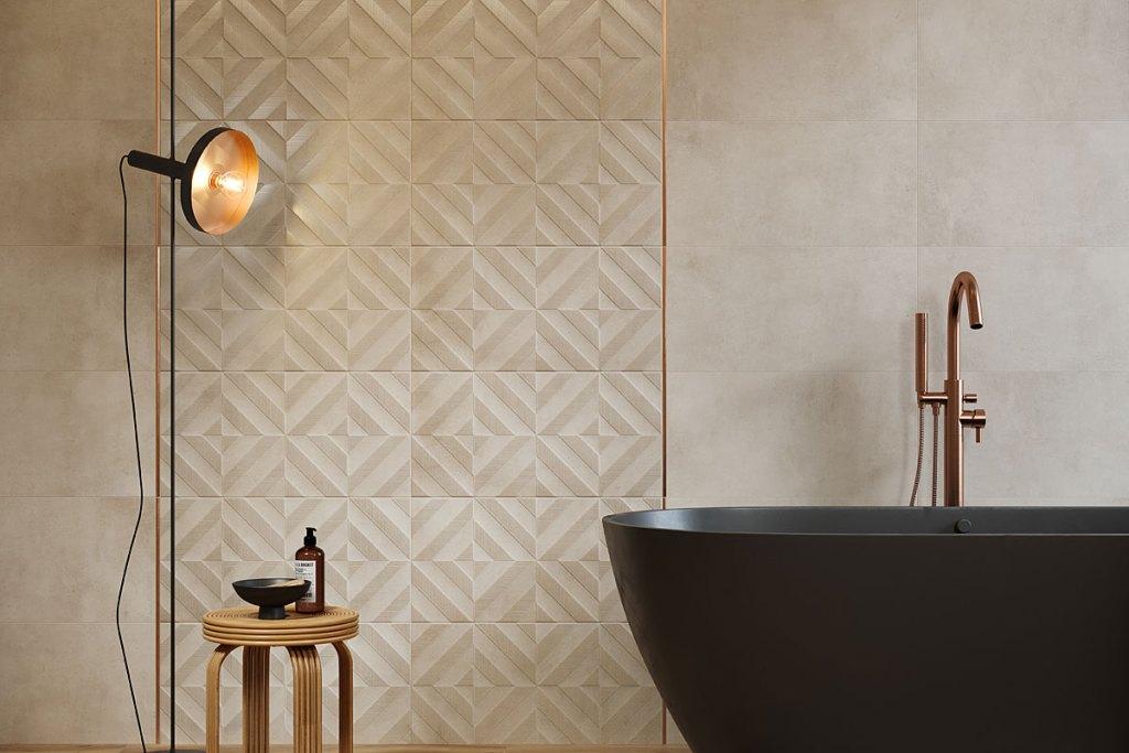 Płytki łazienkowe, kolekcja Fara marki Cersanit