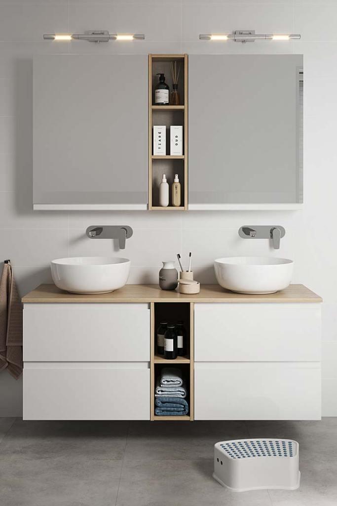 Podwójna szafkę pod umywalkę z kolekcji Moduo marki Cersanit