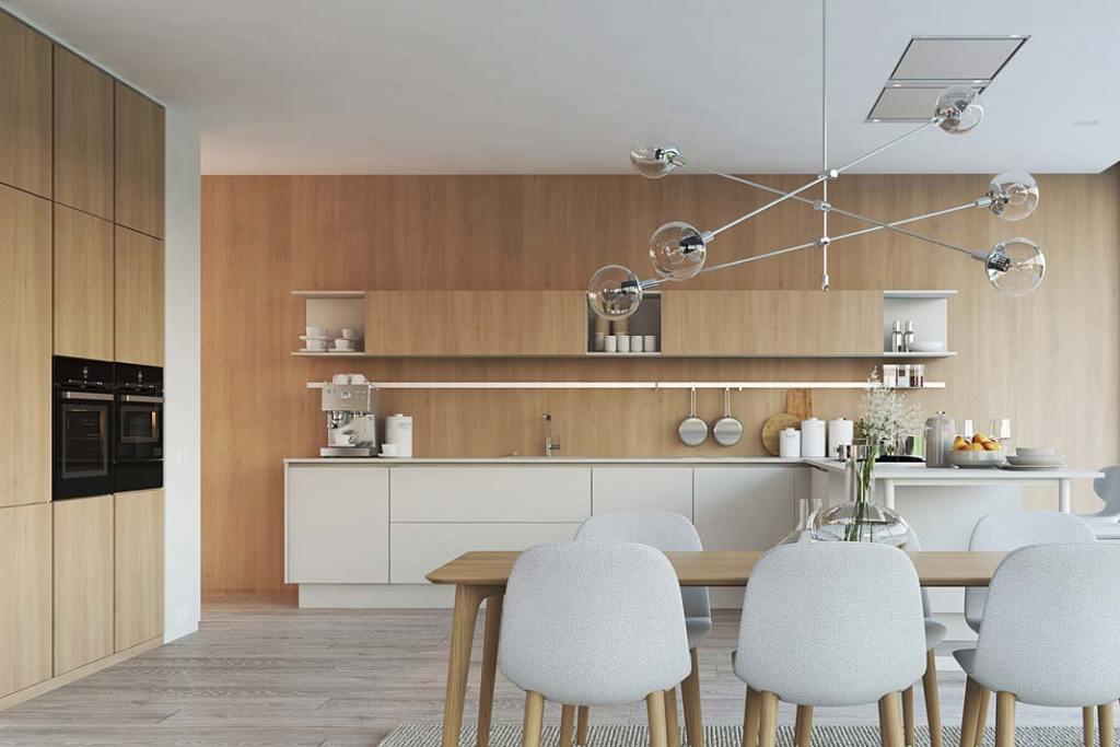 RuckZuck, kuchnia i jadalnia w stylu New Nordic
