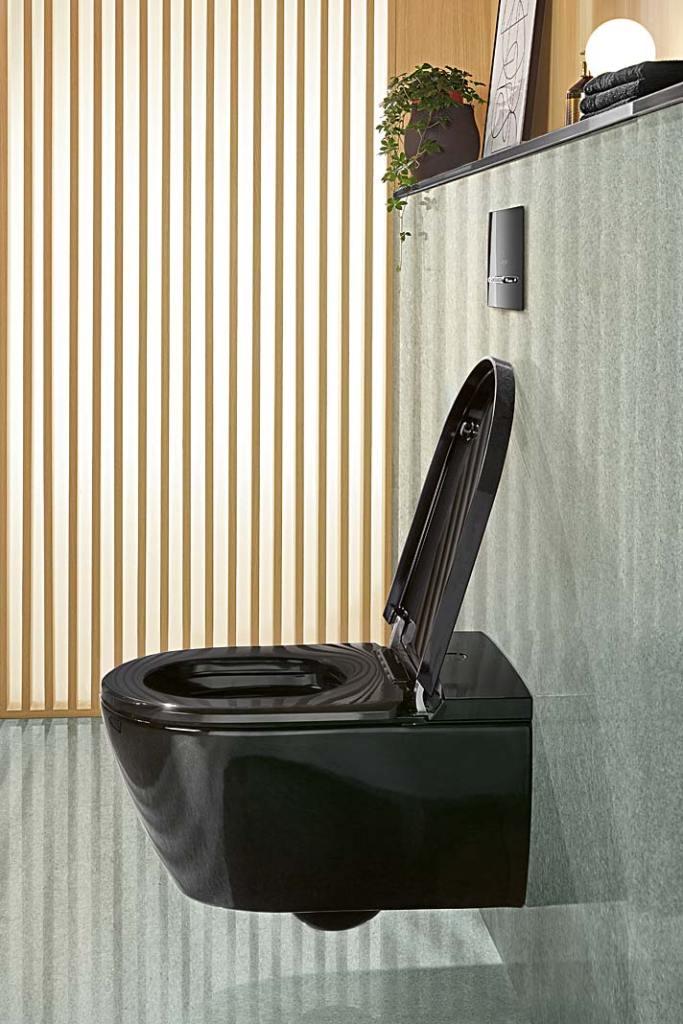 Toaleta myjąca Villeroy&Boch ViClean w kolorze czarnym