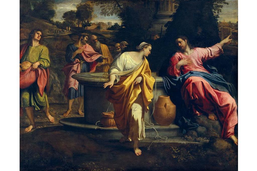 Annibale Carpacci, Chrystus iSamarytanka - ze zbiorów Pinakoteki Brera