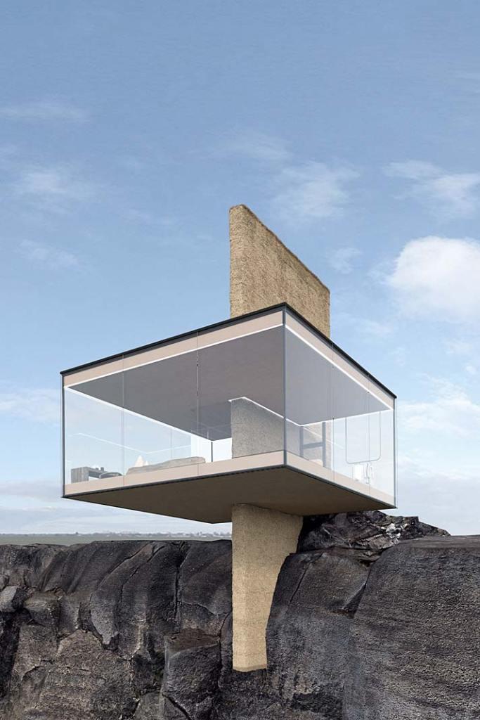 Dom Air posiada przeszklone ściany z inteligentnego szkła o zmiennej przezierności