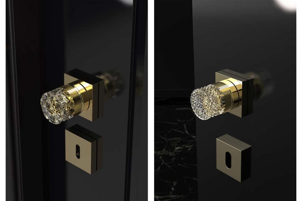 Gałki drzwiowe Arius Home od Glass Design