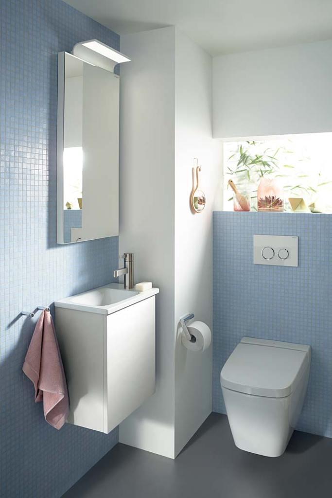 Pomysł na małą łazienkę. Kolekcja Burgbad Essento