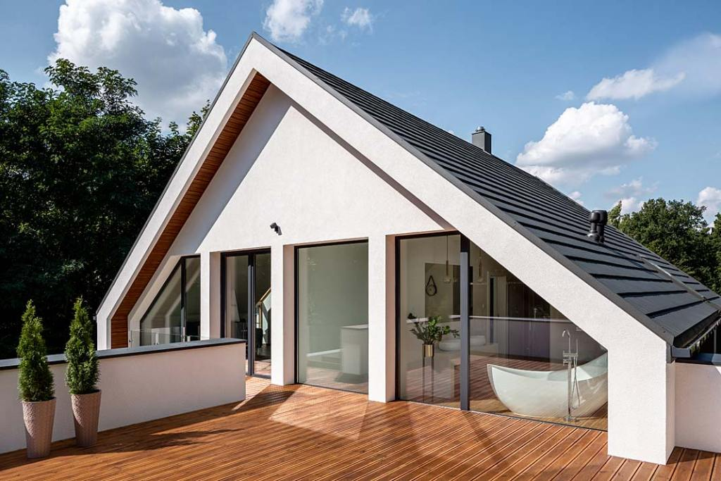 Nowoczesne okna do domu z niskoemisyjnego szkła ECLAZ od Saint Gobain Building Glass Polska