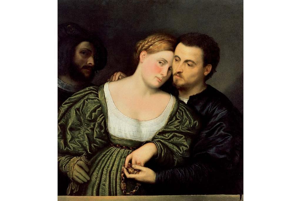 Paris Bordone, Weneccy kochankowie, 1523–1525, olej napłótnie, 86x80,5cm
