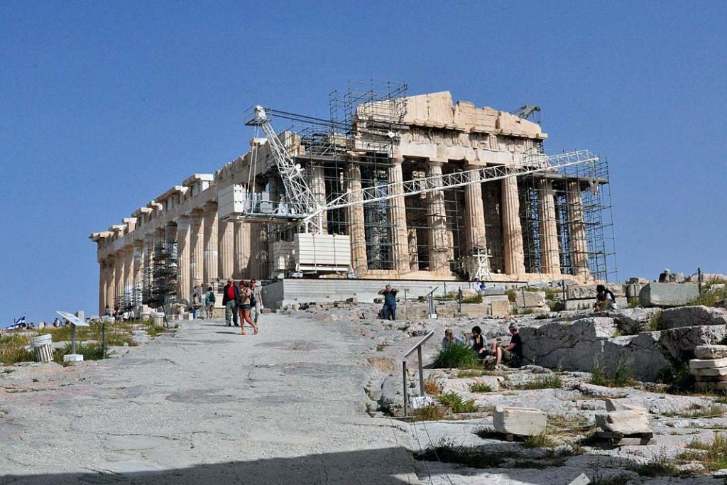 Partenon wAtenach oddziesięcioleci jest sukcesywnie restaurowany