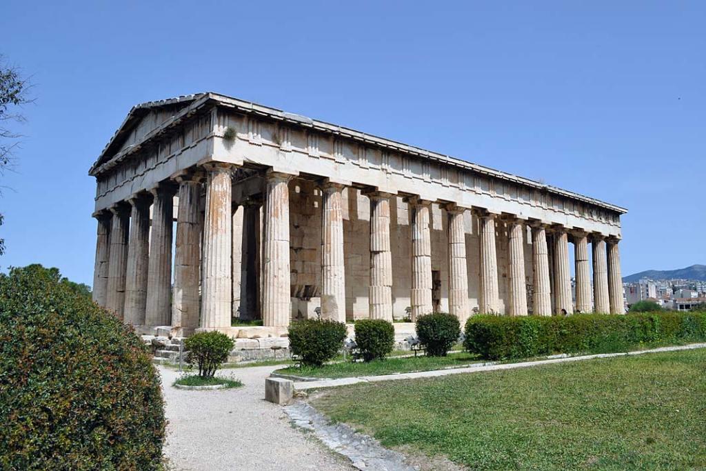 Świątynia Hefajstosa na terenie wykopalisk dawnej agory
