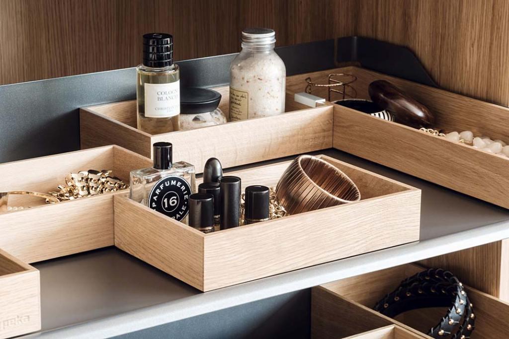 Drewniane organizery Peka na biżuterię i dodatki
