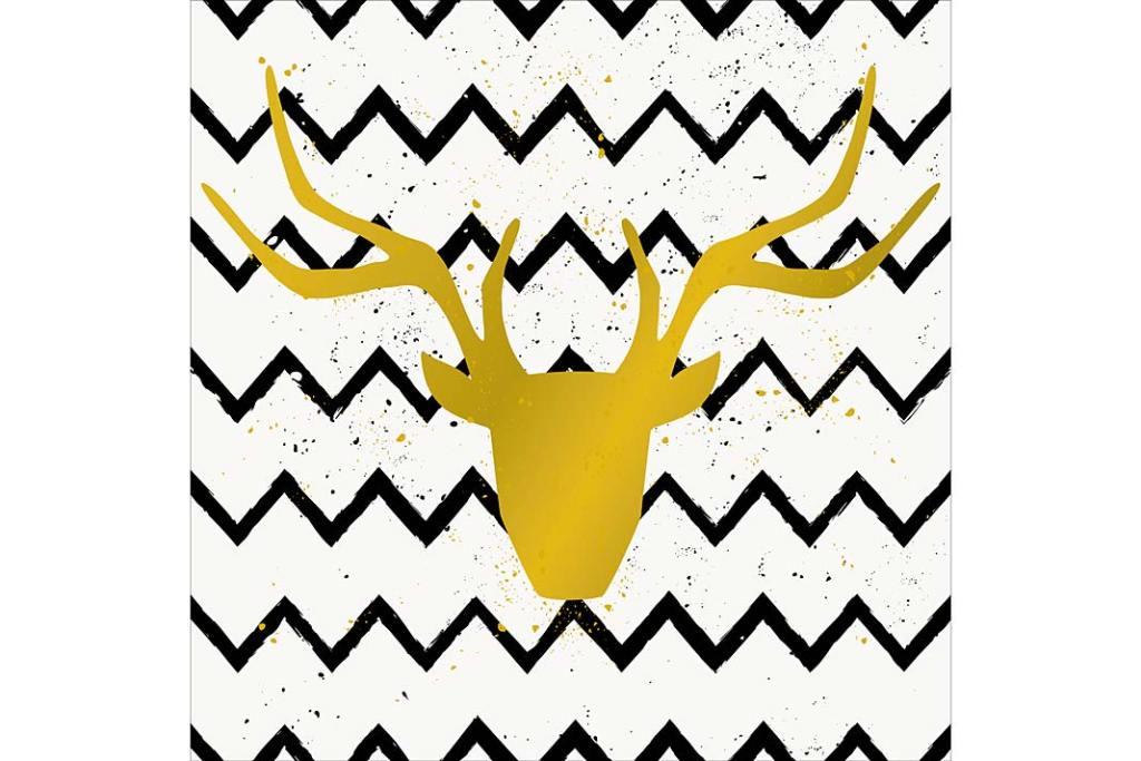 Czarno-biały zygzak. Panel dekoracyjny Złoty Jeleń od Leroy Merlin