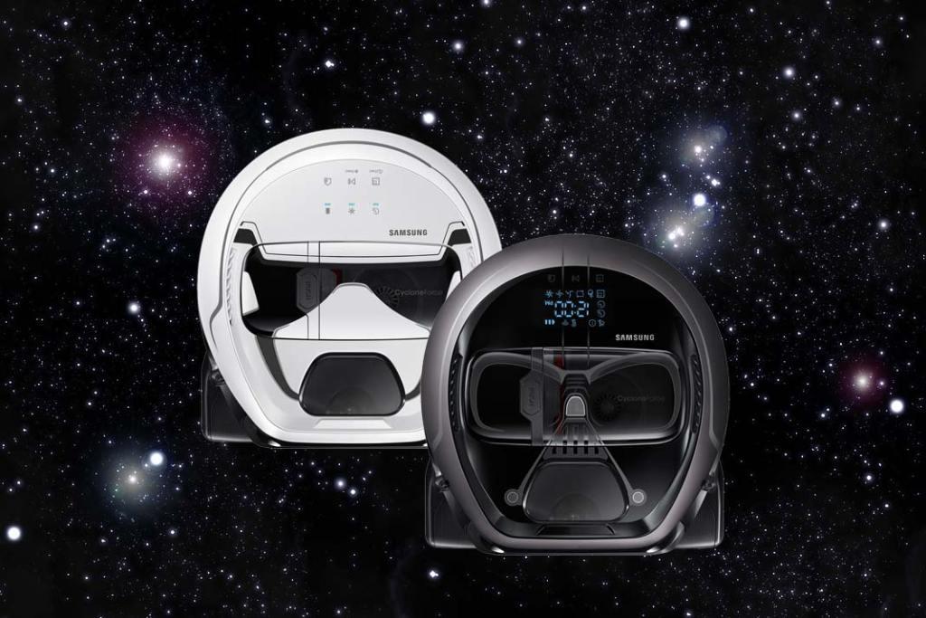 Roboty sprzątające Samsung POWERbot w wersji Darht Vader i Stormtrooper